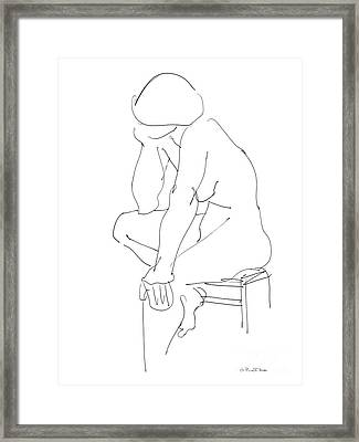 Nude Female Drawings 12 Framed Print