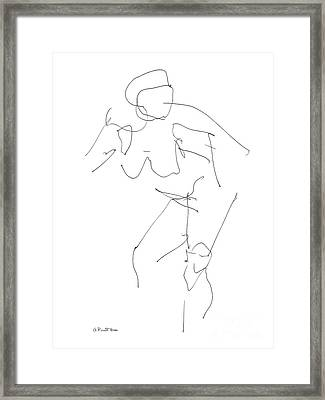 Nude Female Drawings 14 Framed Print