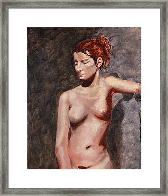 Nude French Woman Framed Print
