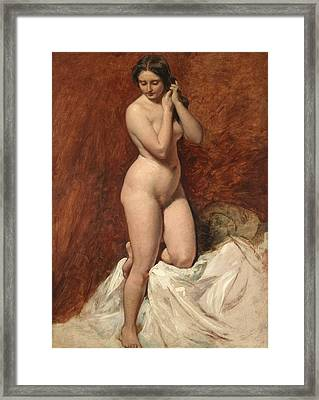 Nude From The Front Framed Print by William Etty