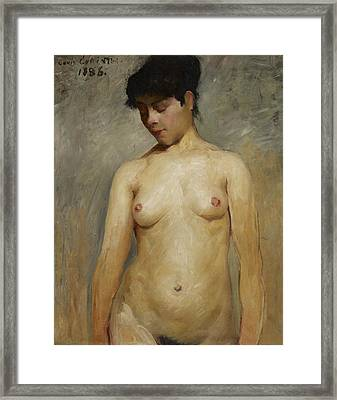Nude Girl Framed Print by Lovis Corinth