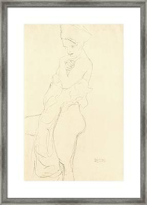 Nude Framed Print by Gustav Klimt