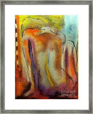 Framed Print featuring the mixed media Nude IIi by Dragica  Micki Fortuna