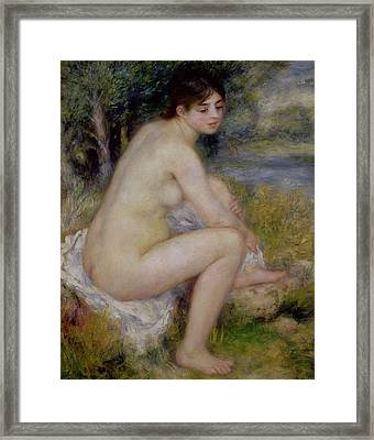 Nude In A Landscape Framed Print
