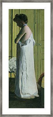 Nude In An Interior Framed Print by Felix Edouard Vallotton