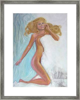 Nude In Bed Framed Print