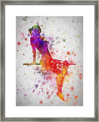 Nude In Color 03 Framed Print by Aged Pixel