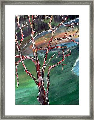 Nude In Nature Framed Print by Mark Moore
