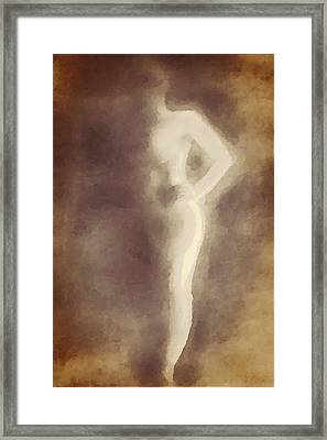 Nude In Shadow 2 Framed Print by Victoria Fischer