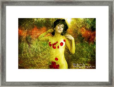 Nude In The Forest Framed Print by Rick Buggy