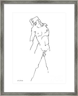 Nude-male-drawing-11 Framed Print