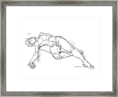 Nude Male Drawings 1 Framed Print