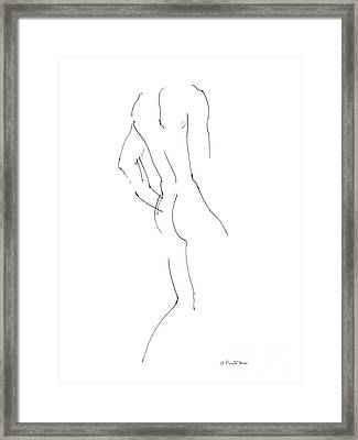 Nude Male Drawings 2 Framed Print by Gordon Punt