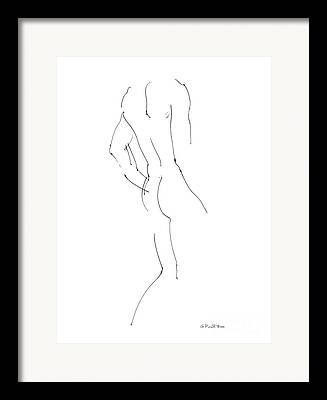 Fine Line Drawings Framed Prints