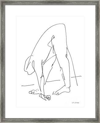 Nude Male Drawings 32 Framed Print