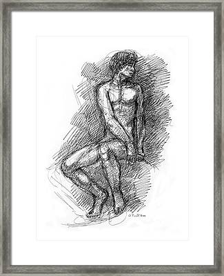 Nude Male Sketches 1 Framed Print