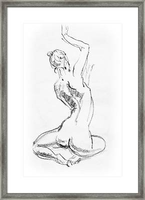 Nude Model Gesture V Framed Print by Irina Sztukowski