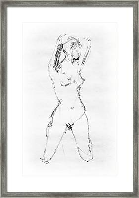 Nude Model Gesture Vii Framed Print