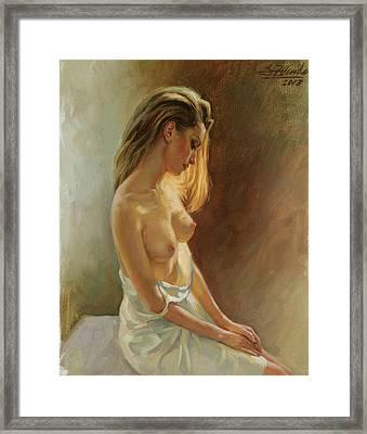 Nude Model Framed Print