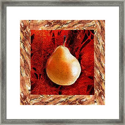 Nude N Beautiful Pear  Framed Print