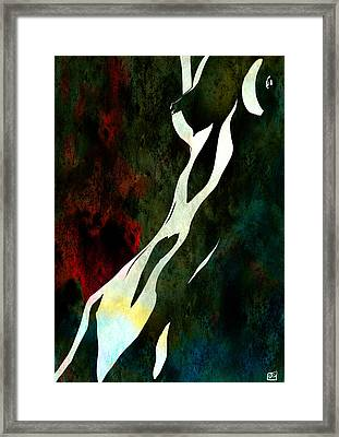 Framed Print featuring the drawing Nude Nuber Nine by Giuseppe Cristiano