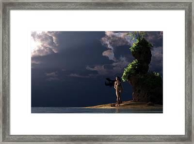 Nude On A Beach Framed Print