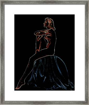 Nude On Divan Man Ray Homage Framed Print by Brian King