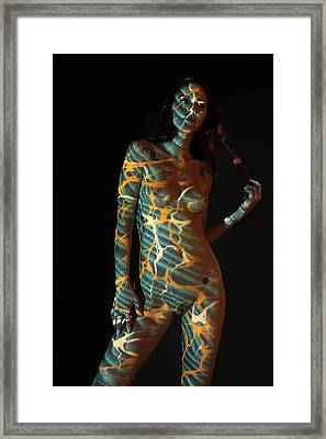 Nude- Optical Projection # 6 Framed Print by Stephen Carver