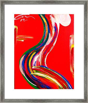 Nude Profile - Edition 4 Framed Print by Mac Worthington