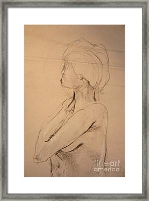 Nude Profile Framed Print