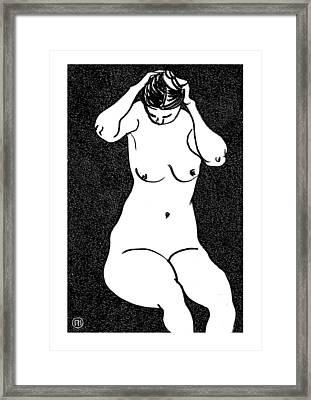 Nude Sketch 10 Framed Print by Leonid Petrushin