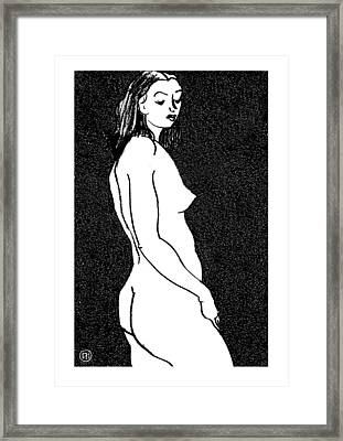 Nude Sketch 8 Framed Print by Leonid Petrushin