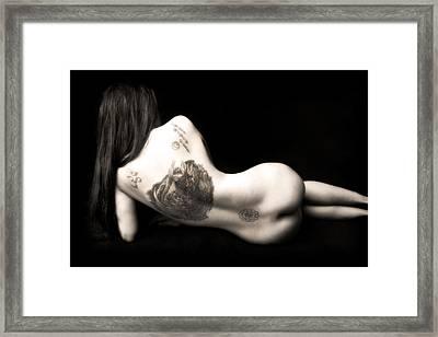Nude Tattoos Framed Print