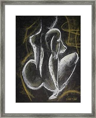 Framed Print featuring the drawing Nude  Vii by Dragica  Micki Fortuna