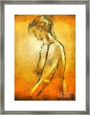 Framed Print featuring the painting Nude Viii by Dragica  Micki Fortuna