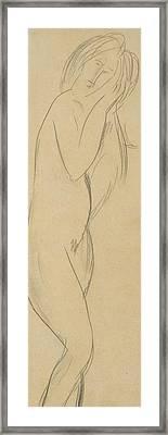 Nude Woman Framed Print by Amedeo Modigliani