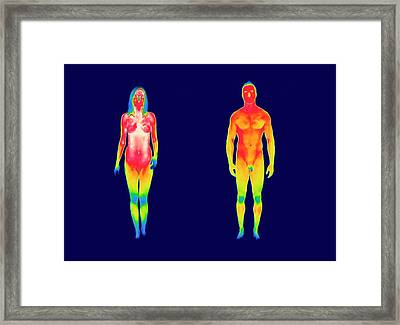 Nude Woman And Man Framed Print