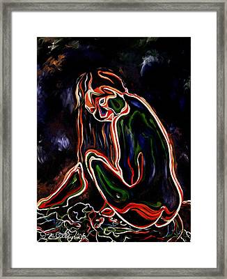 Outlined Nude 1 Framed Print