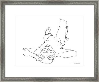 Nude_male_drawings-22 Framed Print