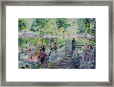 Framed Print featuring the painting Nuernberg Gardens Of Hesperides by Alfred Motzer