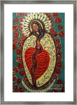Nuestra Senora De Guadalupe Framed Print by Maya Telford
