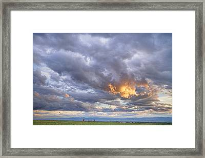 Nugget Of Gold In The Colorado Sky  Framed Print by James BO  Insogna