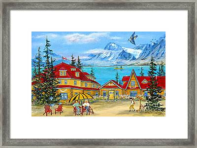Num-ti-jah Lodge Framed Print by Virginia Ann Hemingson