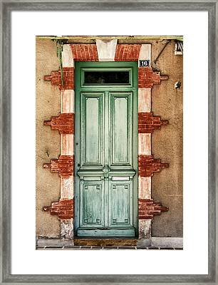 Number 16 Is Green Framed Print by Georgia Fowler