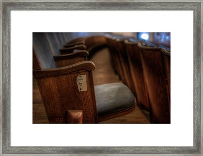 Number 19 Framed Print by Nathan Wright