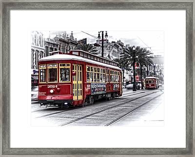 Number 2024 Trolley Framed Print by Tammy Wetzel