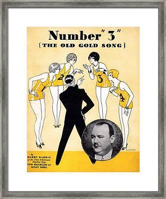 Number 3 The Old Gold Song Framed Print