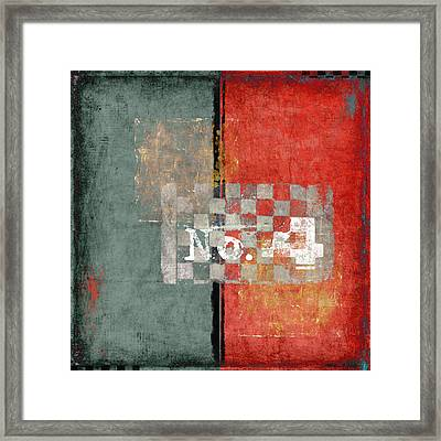 Number 4 Framed Print by Carol Leigh