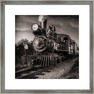 Number 4 Narrow Gauge Railroad Framed Print