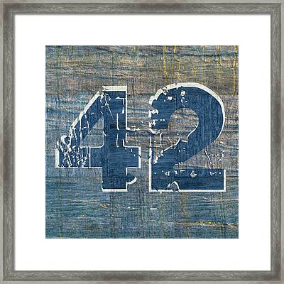 Number 42 Framed Print